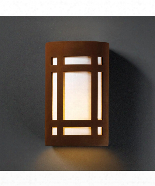 """Ambiance 8"""" 2 Light Wall Sconce In Real Rust"""