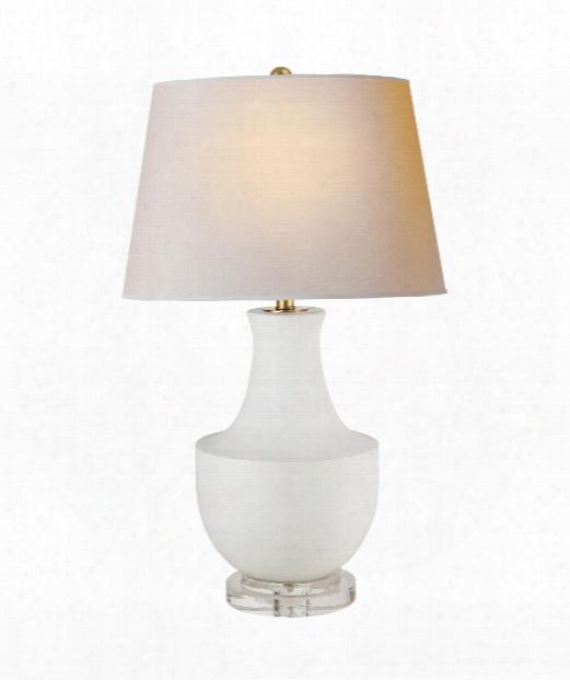 """Arc Pot 19"""" 1 Light Table Lamp In Plaster White"""