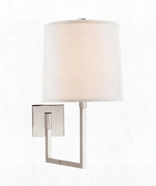 "Aspect 10"" 1 Light Wall Swing Lamp In Polished Nickel"
