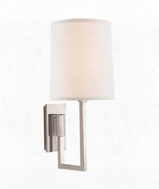 "Aspect 6"" 1 Light Wall Swing Lamp In Polished Nickel"