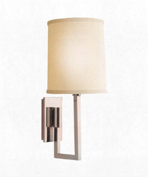 "Aspect 6"" 1 Light Wall Swing Lamp In Soft Silver"