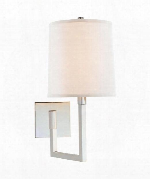 "Aspect 8"" 1 Light Wall Swing Lamp In Soft Silver"