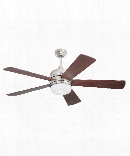 Atomical 2 Light Ceiling Fan In Brushed Steel