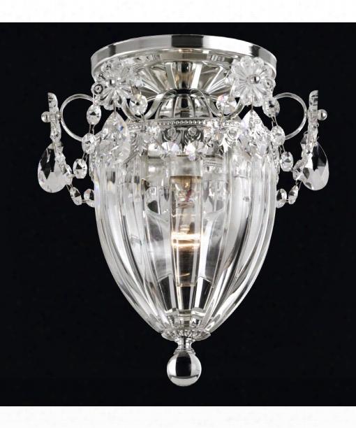 "Bagatelle 8"" 1 Light Semi Flush Mount In Silver"