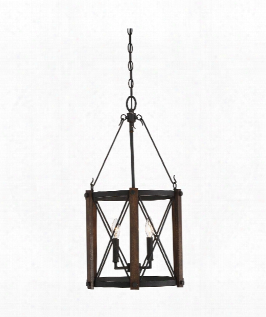 "Baron 15"" 3 Light Large Pendant In Marcado Black"