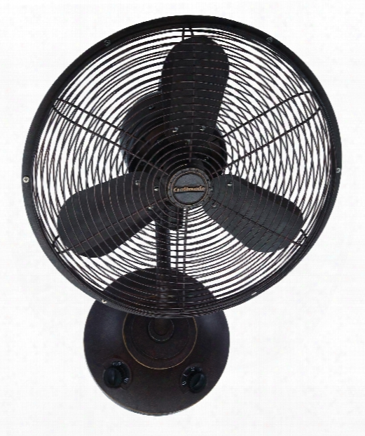 """Bellows I 16"""" Wall Fan In Aged Bronze Textured"""