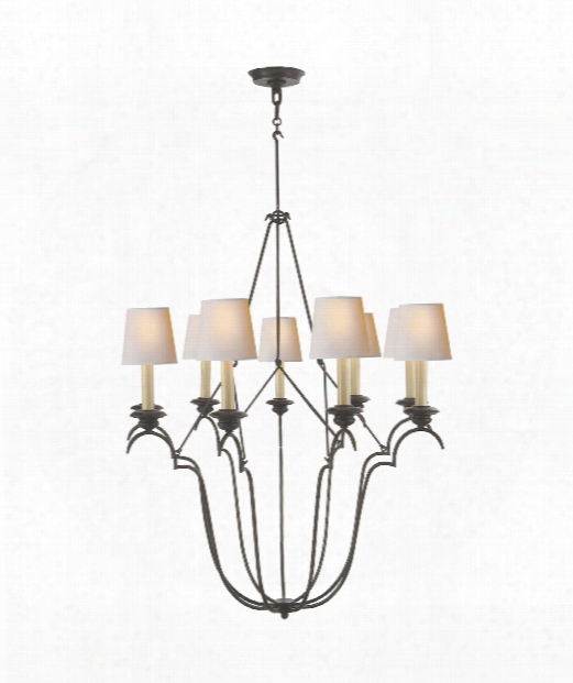"Belvedere 33"" 9 Light Cjandelier In Aged Iron"