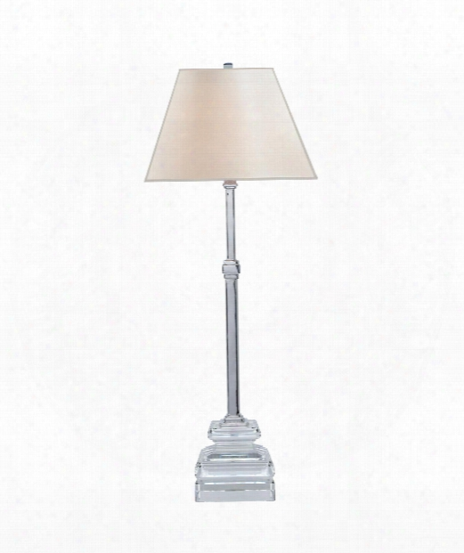 """Beresford 13"""" 1 Light Table Lamp In Crystal With Polished Nickel"""
