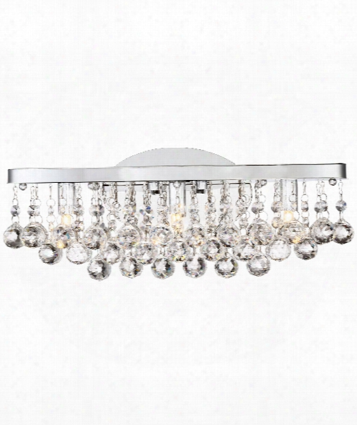 "Bordeaux 17"" Led 3 Light Bath Vanity Light In Polished Chrome"
