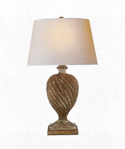 """Bowen 19"""" 1 Light Table Lamp In Weathered White And Gold"""