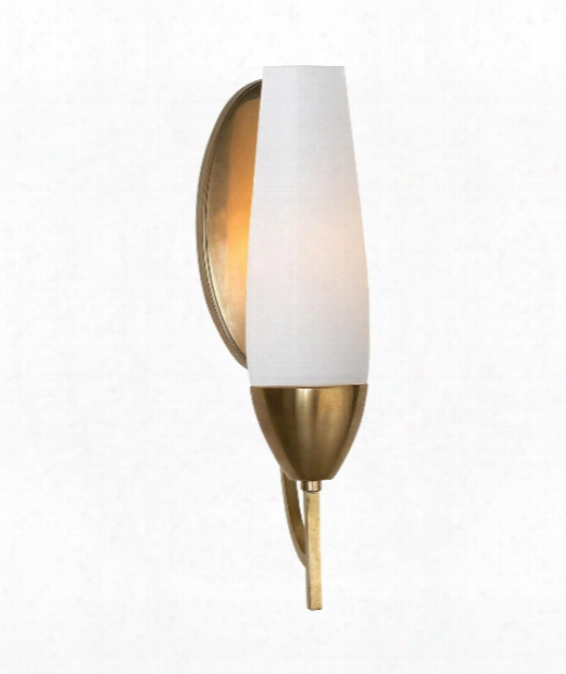 """Bowmont 4"""" 1 Light Wall Sconce In Soft Brass"""
