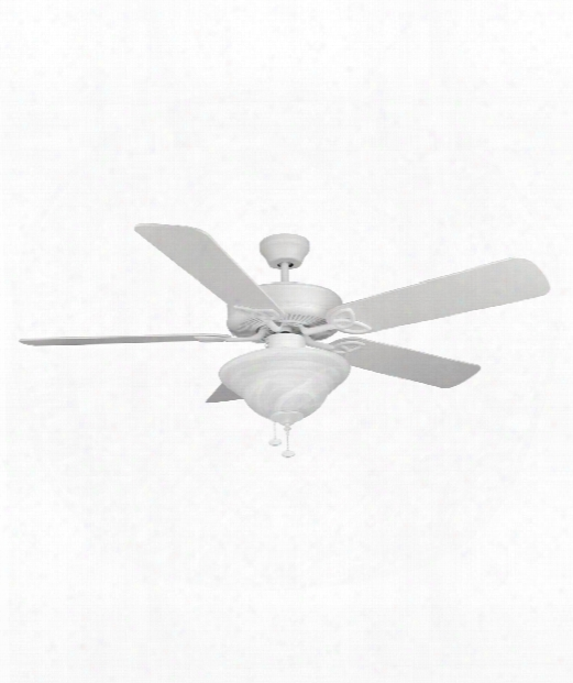 Builder Deluxe 2 Light Ceiling Fan In Matte White