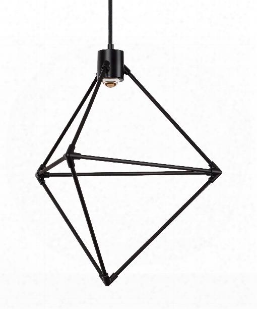 "Candora 19"" Led 1 Light Large Pendant In Black"