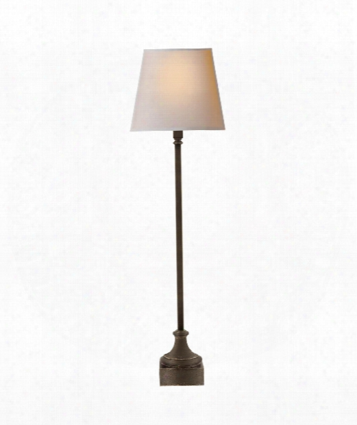 "Cawdor 9"" 1 Light Table Lamp In Aged Iron"