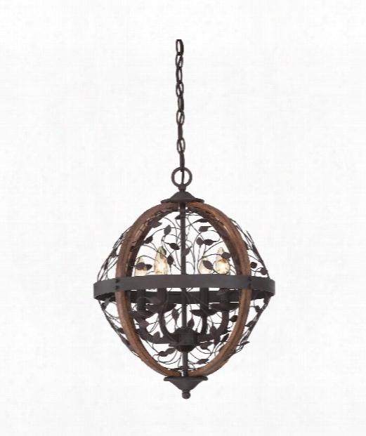 "Chambe 16"" 4 Light Large Pendant In Darkest Bronze"