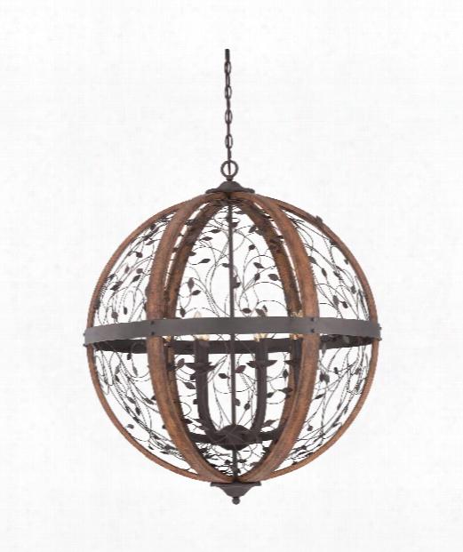 """Chamber 30"""" 8 Light Large Pendant In Darkest Bronze"""