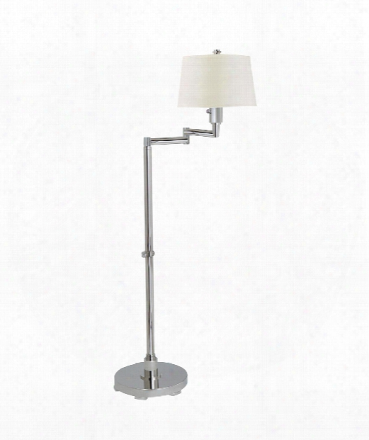 Chunky 1 Light Reading Lamp In Polished Nickel
