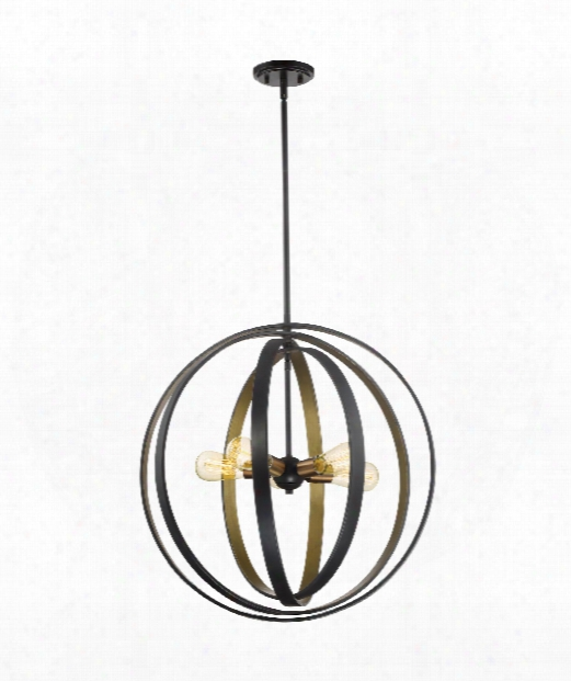 "Circuit 24"" 5 Light Large Pendant In Brown"