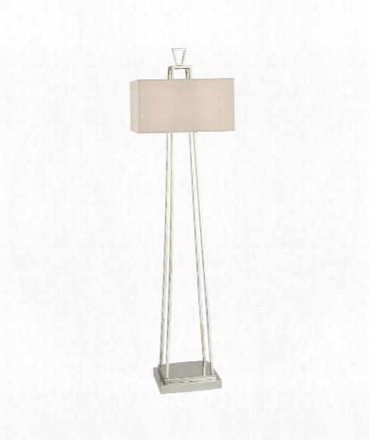 "Darlana 18"" 2 Light Floor Lamp In Polished Nickel"