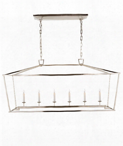 "Darlana 54"" 6 Light Island Lighht In Polished Nickel"