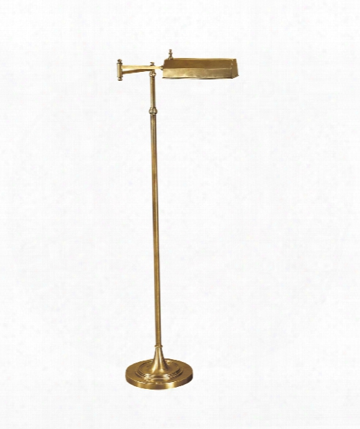 Dorchester 1 Light Reading Lamp In Antique-burnished Brass