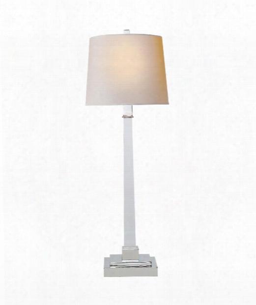 "Edwin 9"" 2 Light Slab Lamp In Crystal"