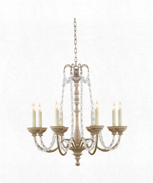 "Flanders 26"" 8 Light Chandelier In Belgian White"