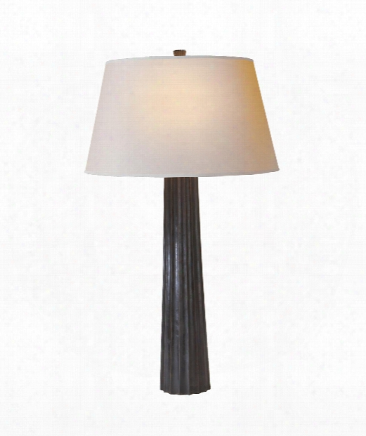 """Fluted Spire 17"""" 1 Light Table Lamp In Aged Iron"""