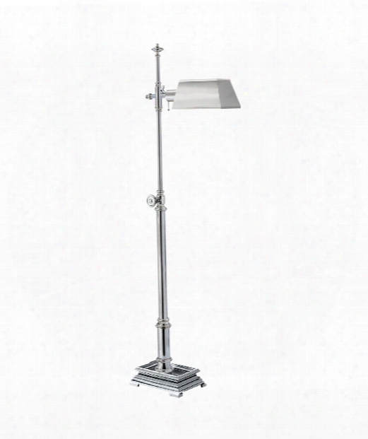 Fontinbleau 1 Light Reading Lamp In Polished Nickel