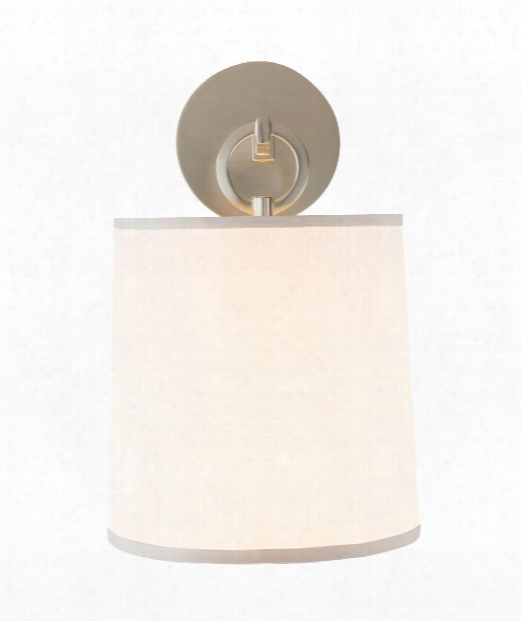 """French Cuff 8"""" 1 Light Wall Sconce In Soft Silver"""