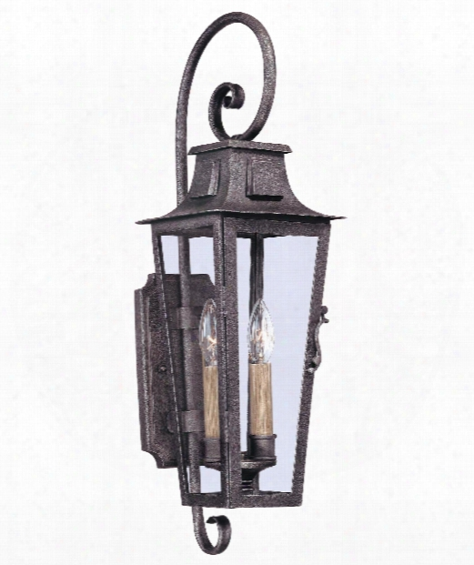 "French Quarter 7"" 2 Light Outdoor Outdoor Wall Light In Aged Pewter"