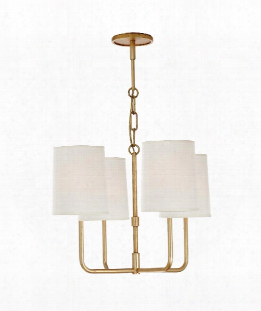 "Go Lightly 20"" 4 Light Chandelier In Guld"