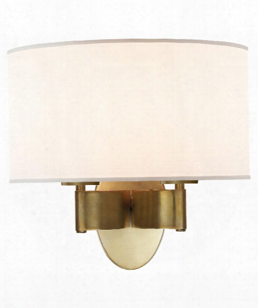 "Graceful Ribbon Sconce 13"" 2 Light Wall Sconce In Soft Brass"