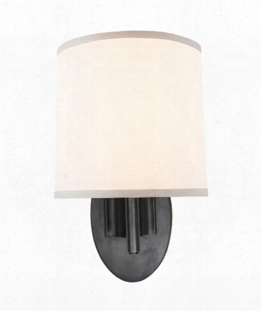 """Graceful Ribbon Sconce 7"""" 1 Light Wall Sconce In Bronze"""