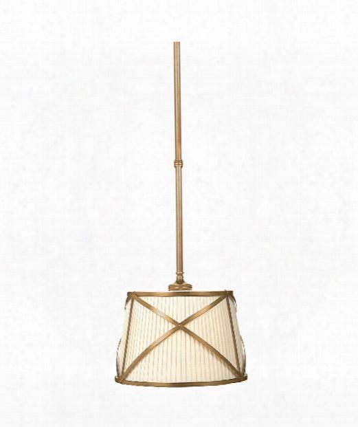 "Grosvenor 15"" 2 Light Large Pendant In Antique-burnished Brass"