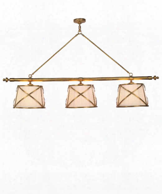 "Grosvenor 75"" 6 Light Island Light In Antique-burnished Brass"