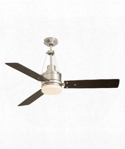 Hghpointe 2 Light Ceiling Fan In Brushed Steel