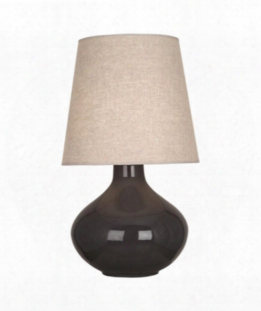"""June 8"""" 1 Light Table Lamp In Polished Nickel-coffee"""