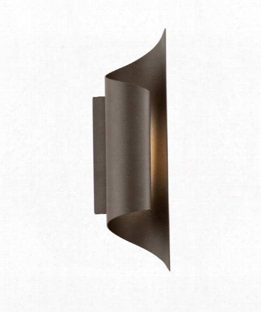 """Kinetic 4"""" Led 8 Light Outdoor Outdoor Wall Light In Bronze"""
