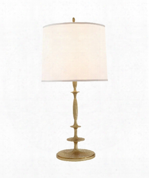 "Lotus 17"" 1 Light Table Lamp In Gild"
