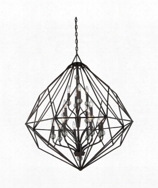 "Monterey 36"" 16 Light Chandelier In Oil Rubbed Bronze"