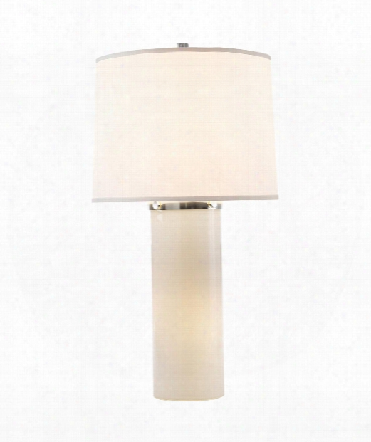 "Moon Glow 17"" 1 Light Table Lamp In White Glass"