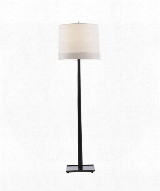 "Octagon 18"" 1 Light Floor Lamp In Walnut Stain"