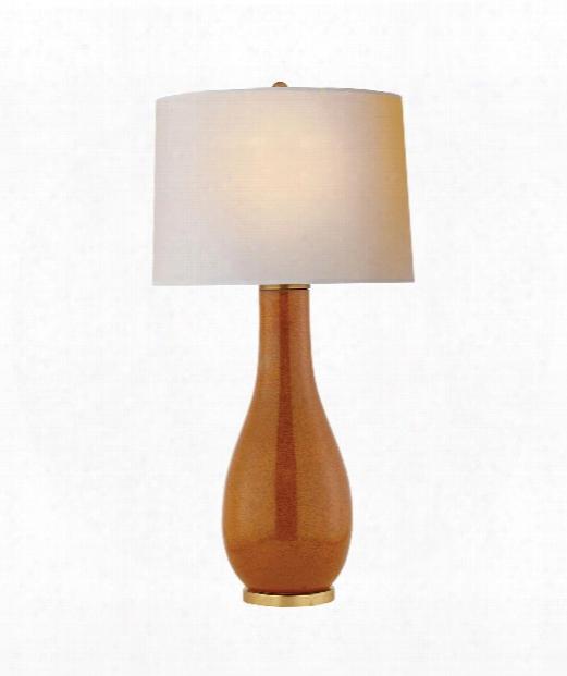 "Orson 17"" 1 Light Table Lamp In Shanghai Brown"