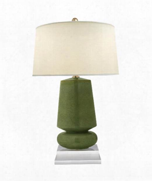 "Parisienne 17"" 1 Light Table Lamp In Shellish Kiwi"
