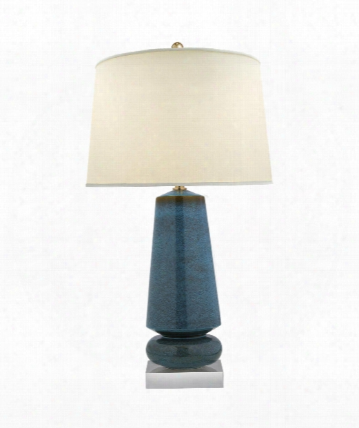 """Parisienne 20"""" 1 Light Table Lamp In Oslo Blue"""
