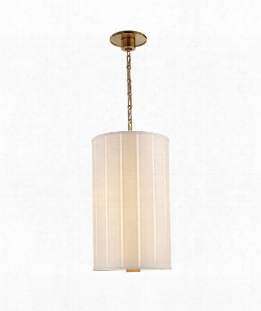 "Perfect Pleat 13"" 2 Light Large Pendant In Soft Brass"