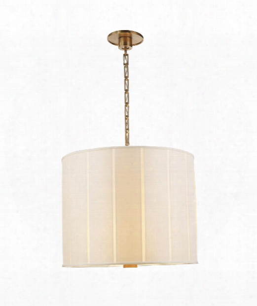 """Perfect Pleat 23"""" 2 Light Large Pendant In Soft Brass"""