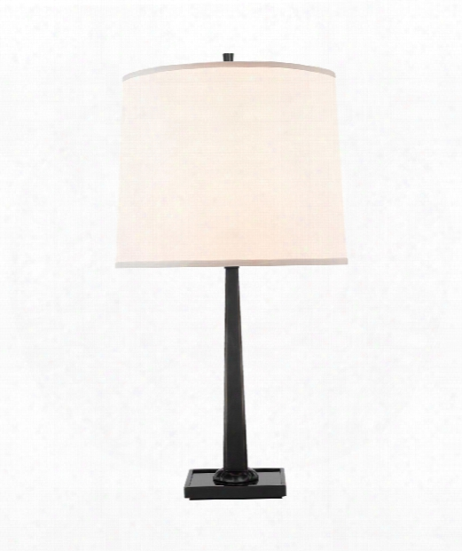 "Petal 13"" 1 Light Table Lamp In Bronze"