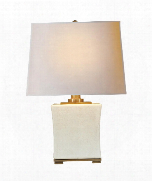 "Pillow Form 15"" 1 Light Table Lamp In Tea Stain Crackle"